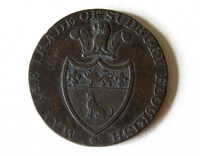 Sudbury trade token (obverse)