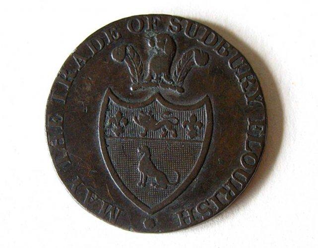 Sudbury trade token (obverse)