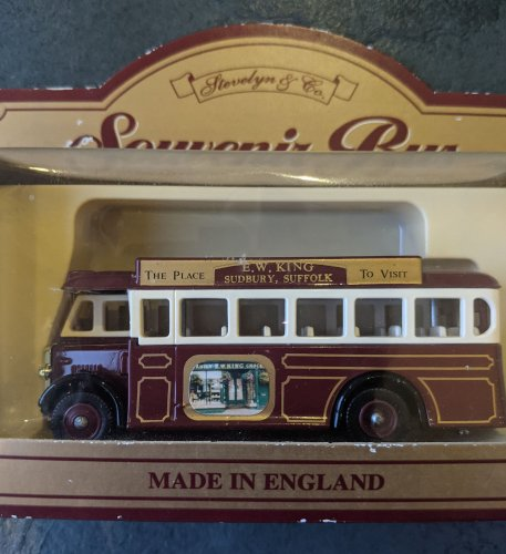 Promotional toy bus sold by Kings