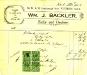 Backler's receipt