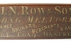 J.N Row and Sons trade board