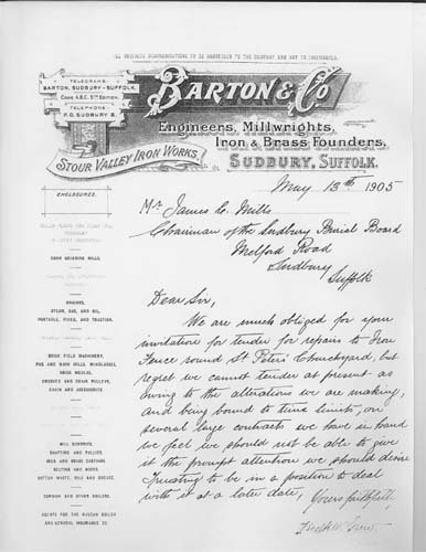 Barton and Co letter