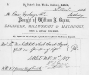 W.G. Green receipted invoice