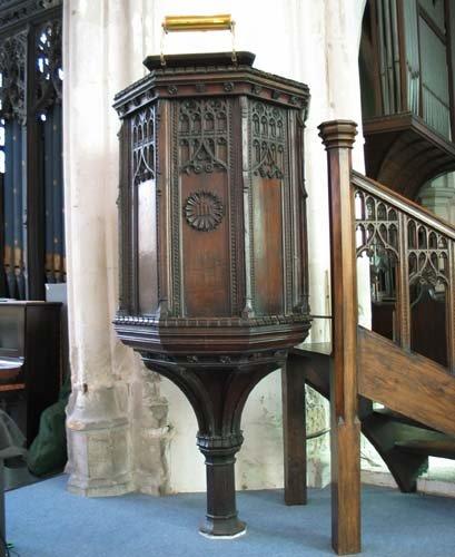 All Saints pulpit