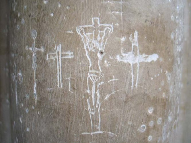 St Peter\'s church - pilgrims marks