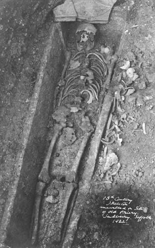 Skeleton from the Priory