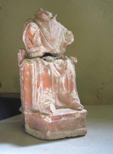 Seated terracotta figure 1