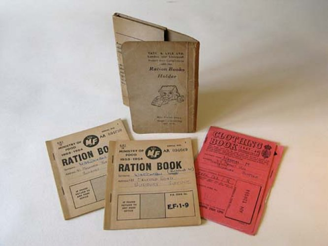 Ration and clothing coupon books